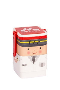 Lunch Box Morinaga Bento Set Square Pilot 600ml TW-LB 77